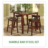 MARBLE BAR STOOL SET